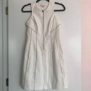 Rebecca Taylor White Jacquard Zipper Dress
